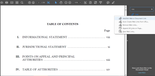 Creating Hyperlinks in Arkansas Appellate Briefs - Step 2