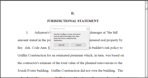 Creating Hyperlinks in Arkansas Appellate Briefs - Step 5